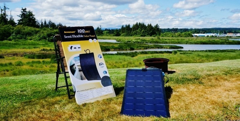 Lensun 100 watt flexible solar panel