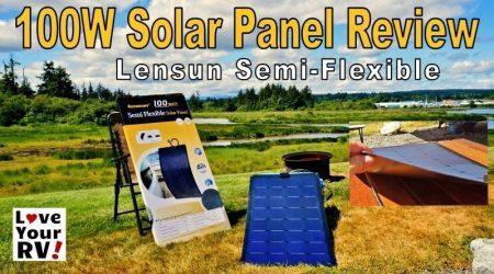 Lensun Semi-Flexible 100 Watt Solar Panel Review