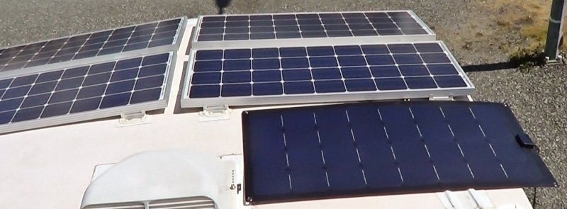 Lensun panel next to my Renogy panels