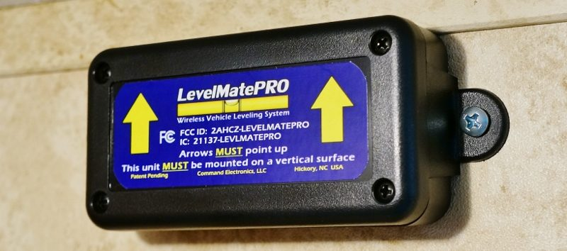 Mounted LevelMatePro box