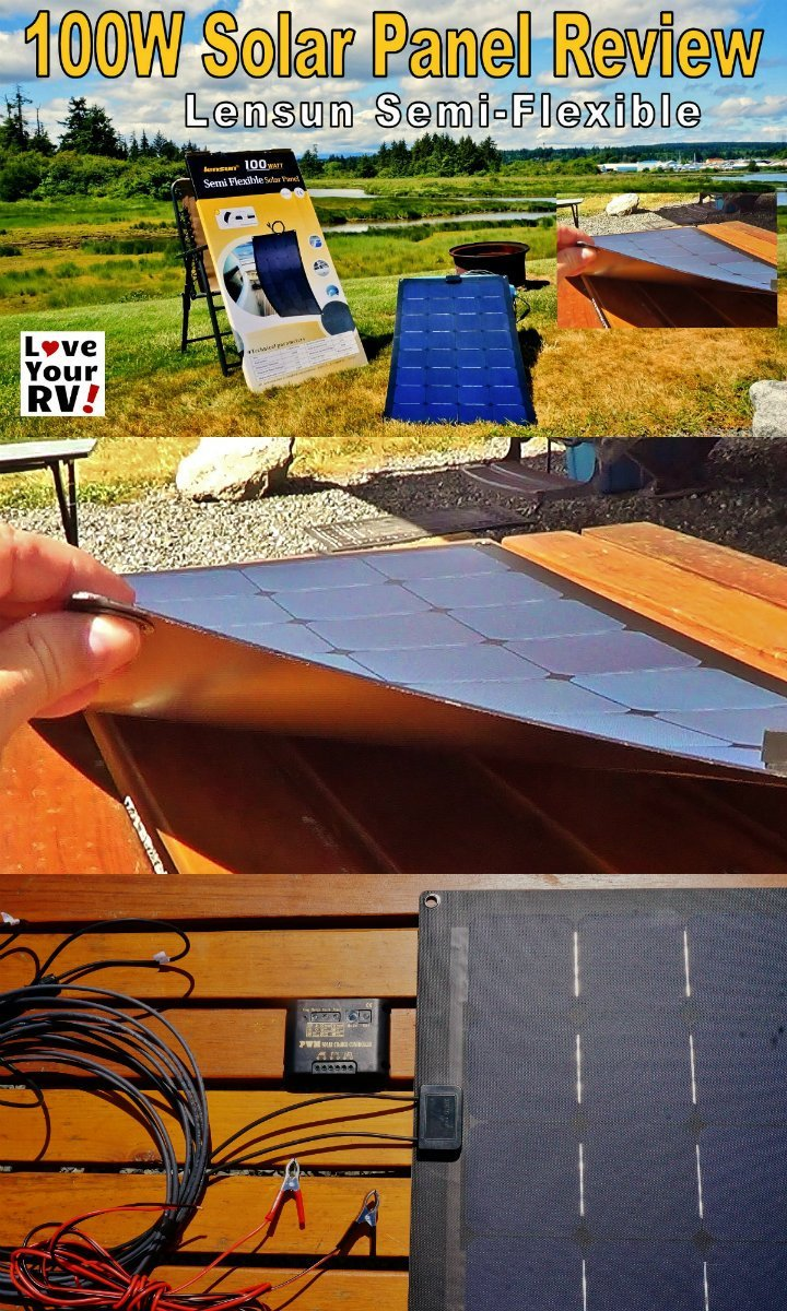 Lensun Semi Flexible 100 Watt Solar Panel Review