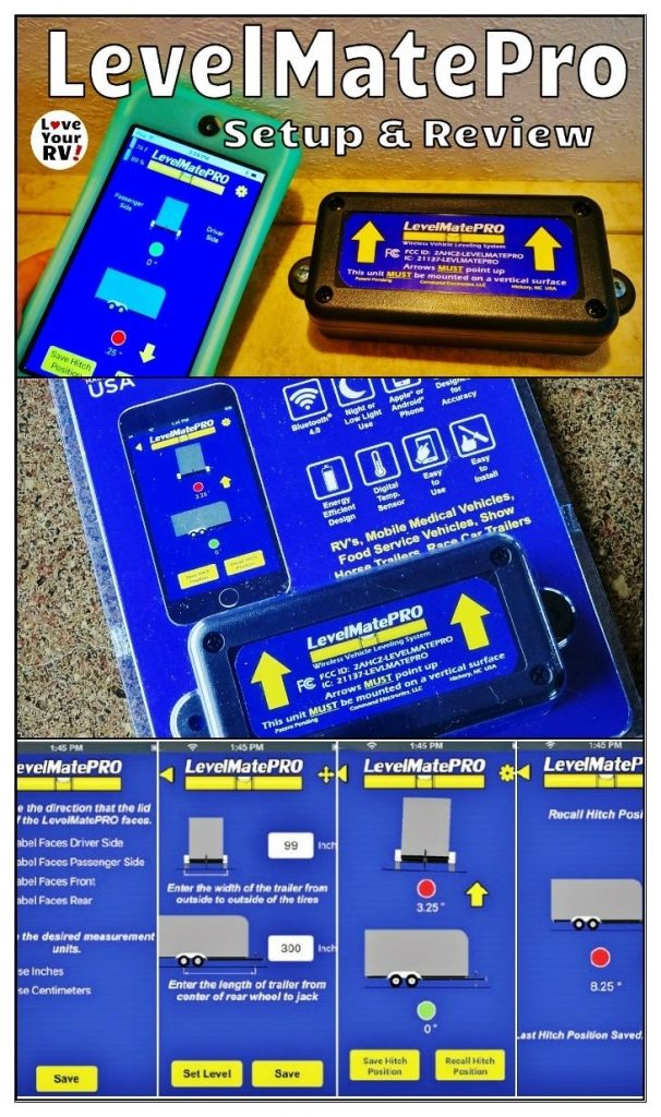 Review of the LevelMatePRO wireless RV leveling system by the Love Your RV! blog - https://www.loveyourrv.com/ #RVing #RVgadget