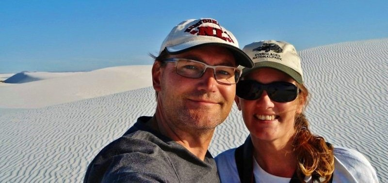 Anne and Ray at White Sands NM
