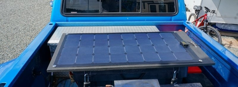 Portable Solar Panel Mounted on Truck