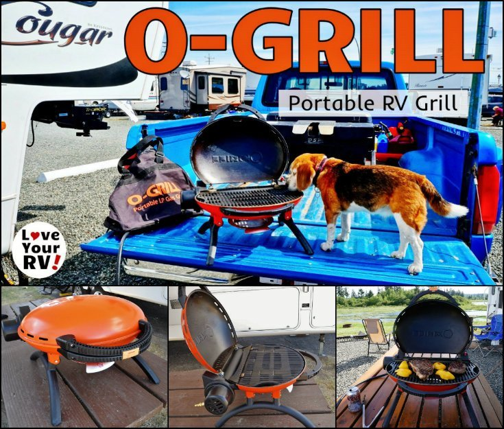Review of the O-Grill Portable Propane RV Grill Barbecue by the Love Your RV! blog - https://www.loveyourrv.com/ #RVing #BBQ