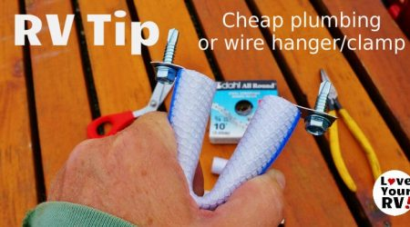 Cheap Plumbing and Wire Clamps for the RV Tip