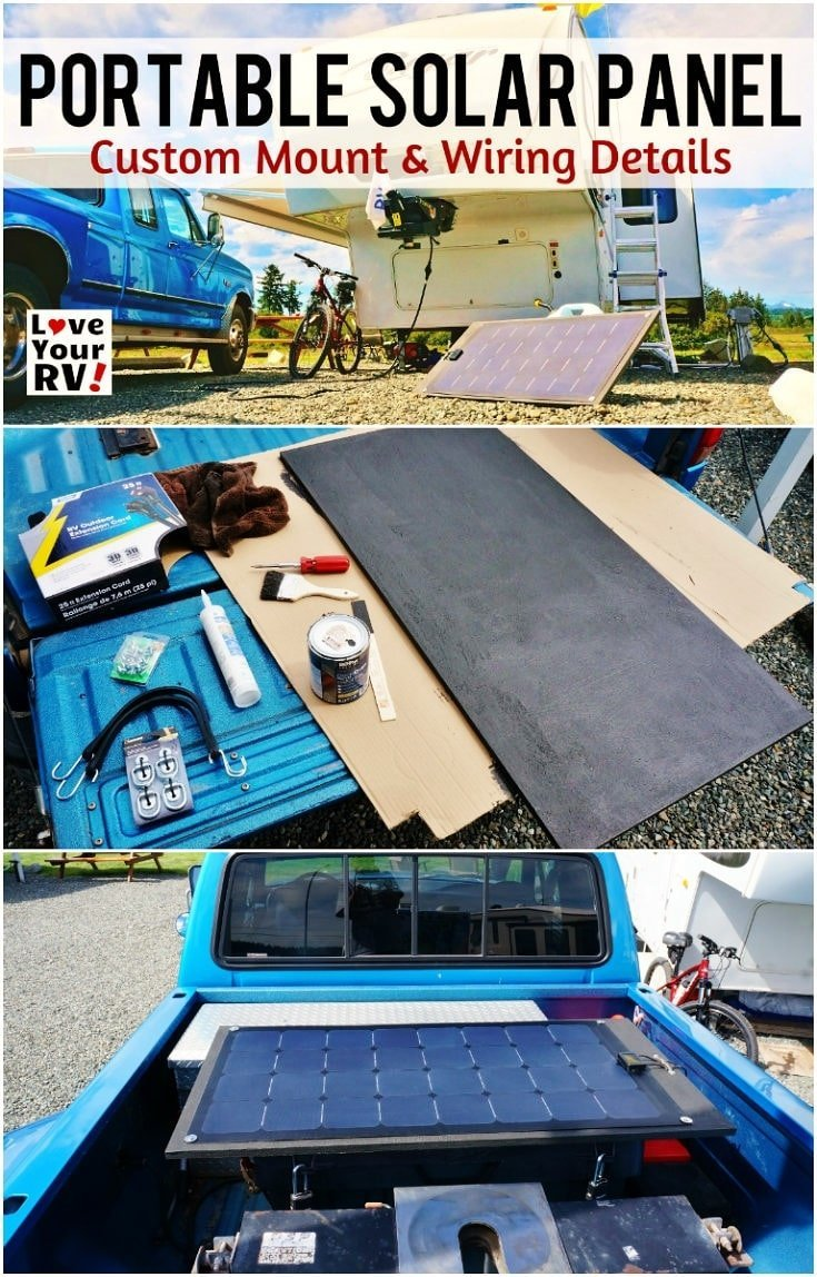 Building a Portable Solar Panel for my RV Boondocking adventures by the Love Your RV blog - https://www.loveyourrv.com/ #RVing #DIY #solar