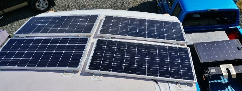 5 100 watts solar panels