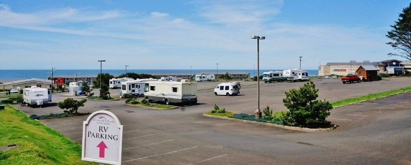 RV parking lot