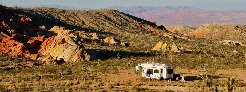 Camped in the Nevada desert