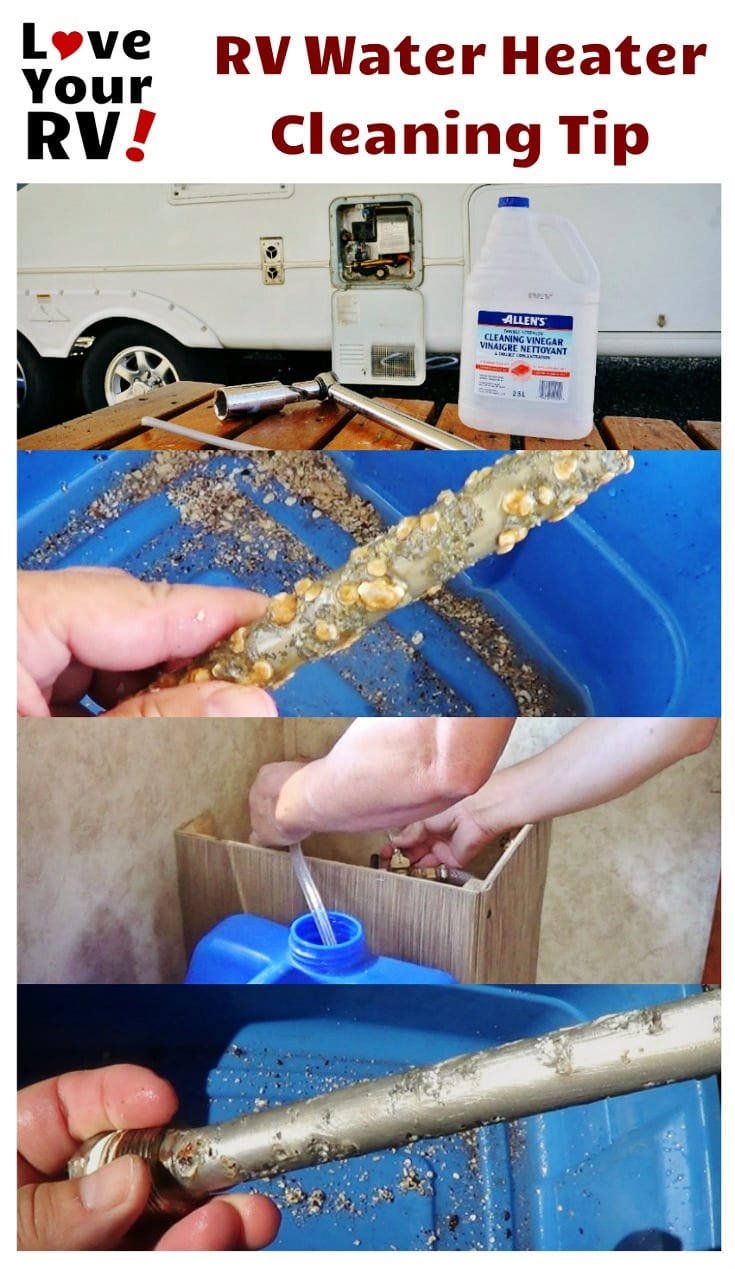 How to clean out the RV Water Heater with vinegar tip by the Love Your RV blog - https://www.loveyourrv.com/ #RVing #RVtips