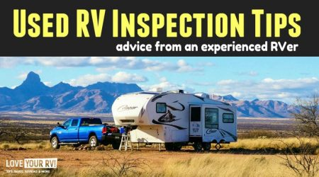 Advice on Things to Check When Buying a Used RV