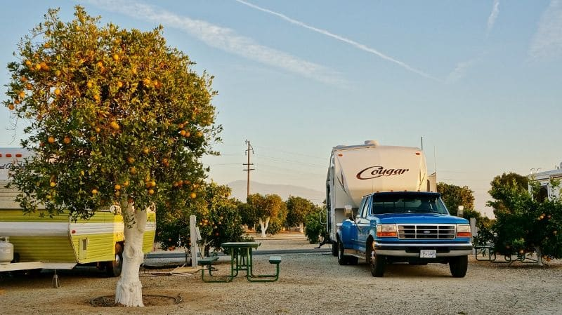 Orange Grove RV Park in Sunny California