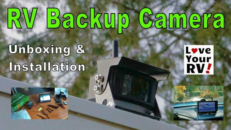 Installing a TadiBrothers Wireless RV Backup Camera System on rns 510 wiring backup camera, cover for backup camera, relay for backup camera, wire for backup camera, wiring diagram for security camera, ouku wiring backup camera,