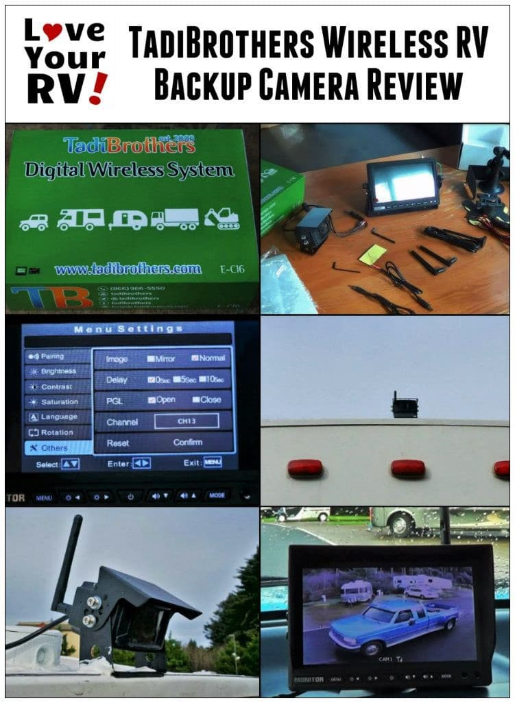 Review of the TadiBrothers Wireless Backup Camera System by the Love Your RV! blog - https://www.loveyourrv.com/ #RVing #RVupgrades