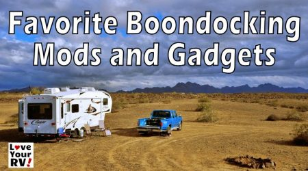 Favorite RV Dry Camping Mods and Gadgets