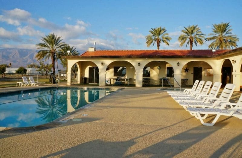 Oasis Palms RV Resort pool area