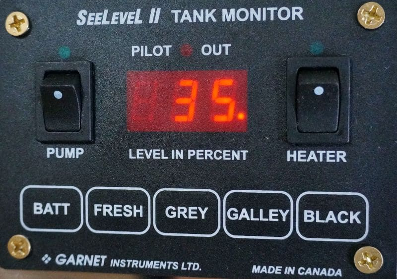 See Level Display tank percentage full