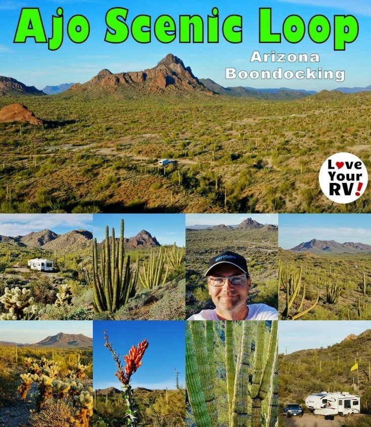 RV Boondocking on the Ajo Scenic Loop Drive in Ajo Arizona by the Love Your RV! blog - https://www.loveyourrv.com