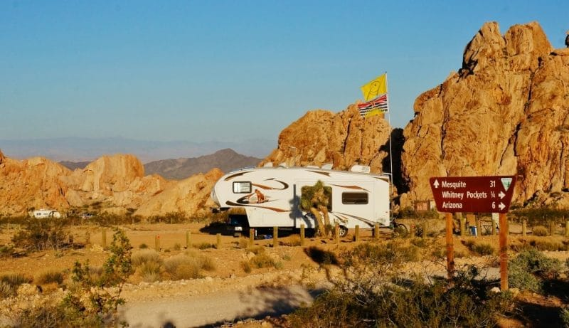 Camped-at-Whitney-Pockets in Nevada