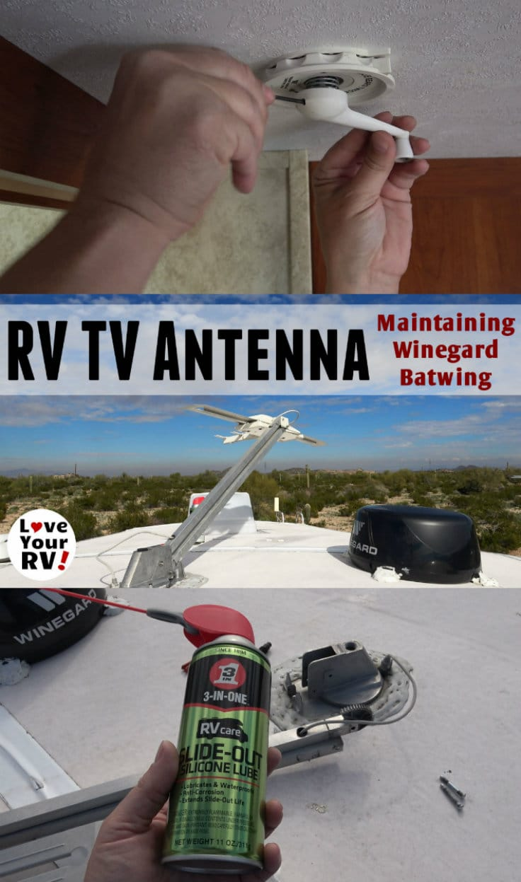 How to lubricate an RV TV antenna - Winegard Sensor Batwing style - https://www.loveyourrv.com/lubricating-winegard-batwing-style-rv-tv-antenna/