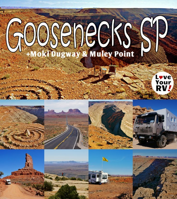 Our Visit to Goosenecks State Park in Utah with side trips to Moki Dugway and Muley Point by the Love Your RV blog - https://www.loveyourrv.com