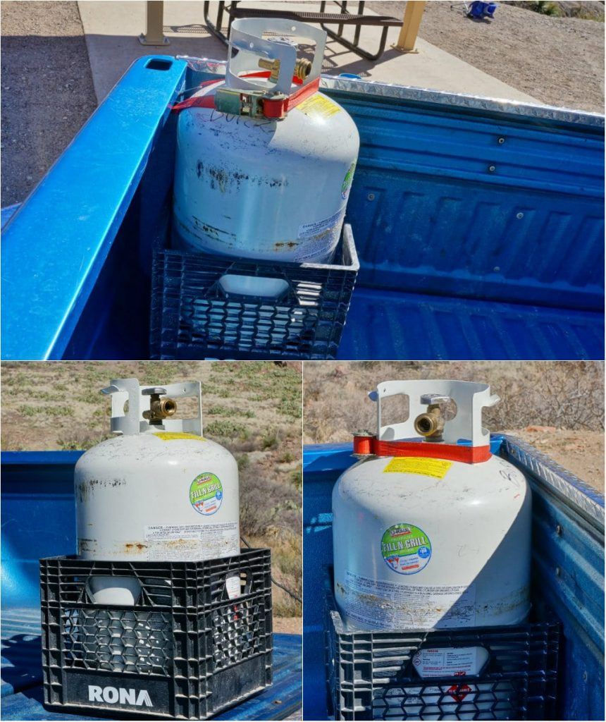 Propane cylinder transport box