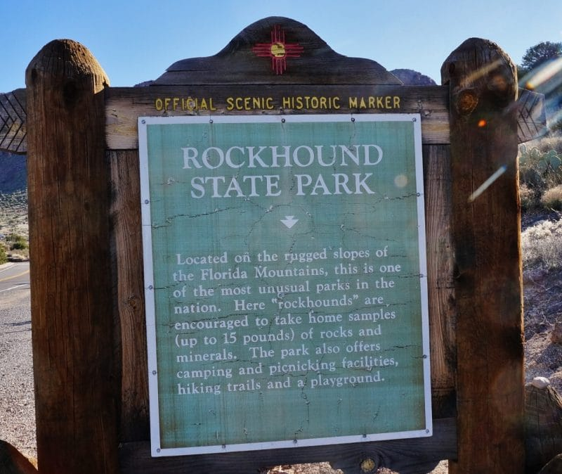 Rock Hound State Park in New Mexico
