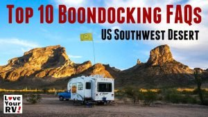 Top 10 Southwest Boondocking FAQs Feature Photo