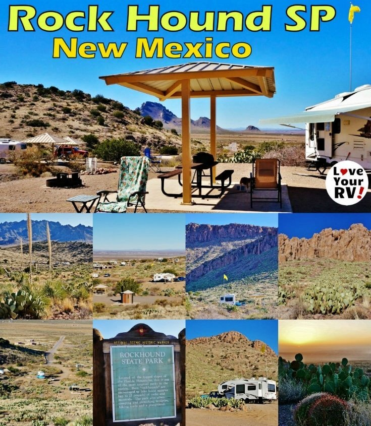 Visiting Rock Hound State Park in Southern New Mexico by the the Love Your RV blog - https://www.loveyourrv.com #camping #RVing
