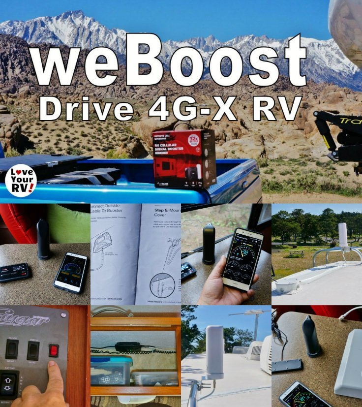 Love Your RVs in depth review of the weBoost Drive 4G-X RV cellular signal booster along with installation notes and video demo -https://www.loveyourrv.com/weboost-drive-4g-x-rv-cellular-booster-kit-review/