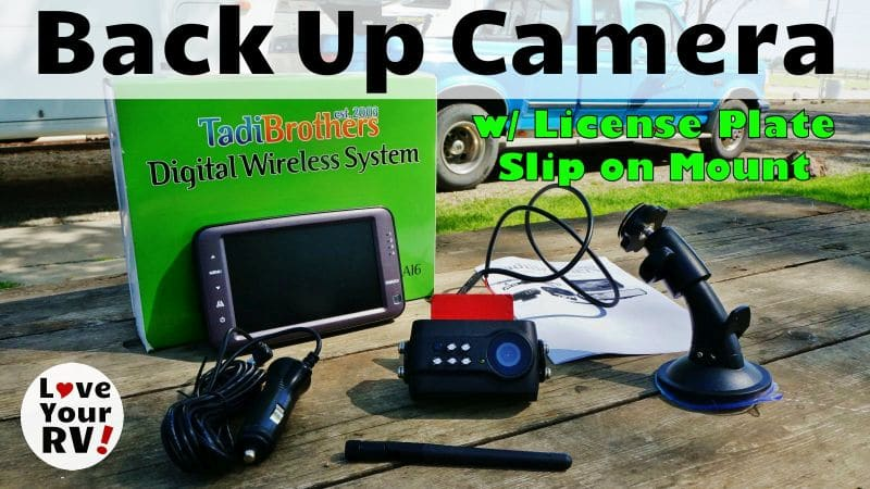 Tadibrothers Wireless License Plate Backup Camera Feature Photo