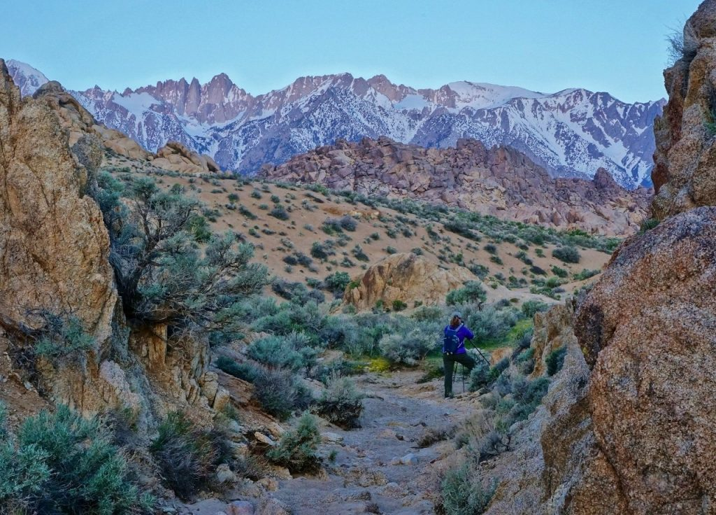 Anne photographing in Alabama Hills California