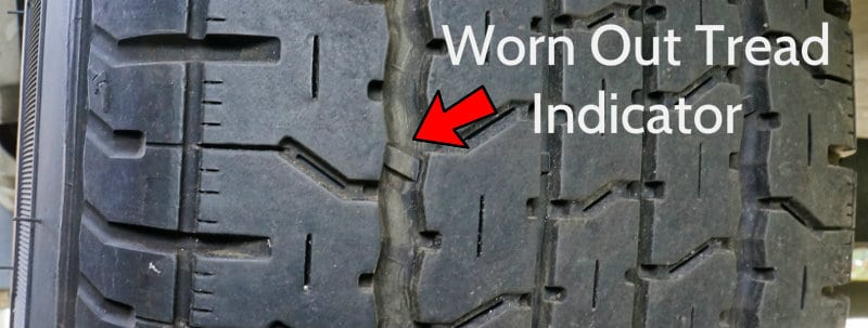 Goodyear Endurance Tire Low tread indicator