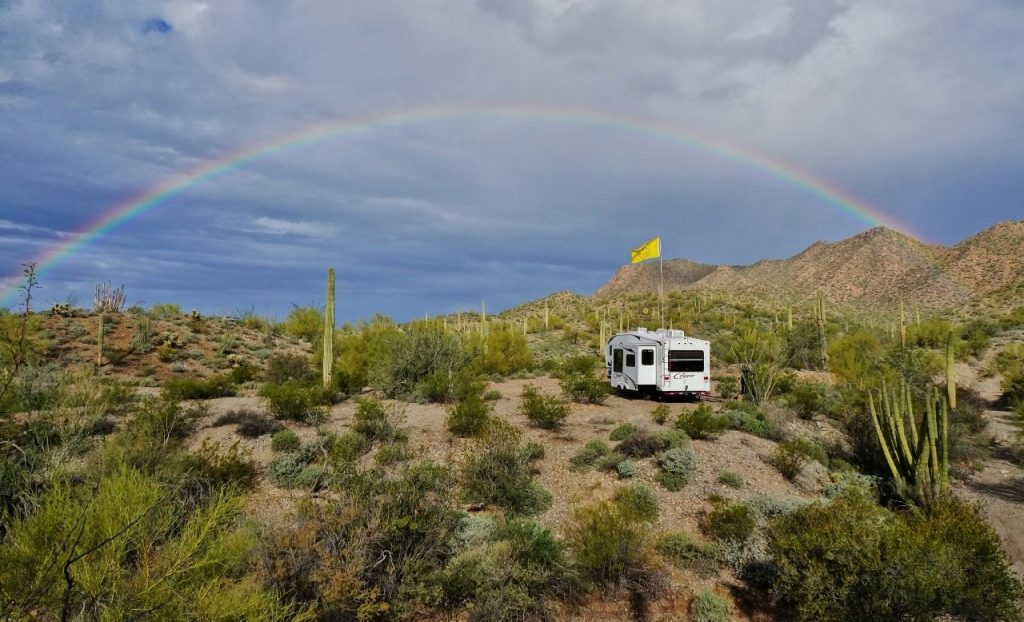 Rainbow boondocked near Ajo Arizona