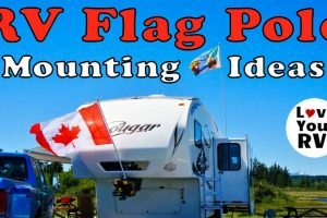 RV Flag Pole Mounting Tip Feature Photo