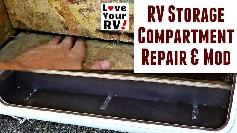 RV Storage Bay Shelf Repair and Modification Feature Photo