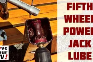Lubricating Fifth Wheel Power Landing Legs Feature Photo