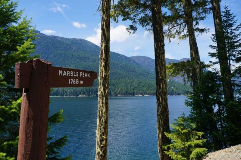 Marble Peak Sign