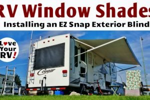 EZ Snap RV Window Shade Install Feature Photo