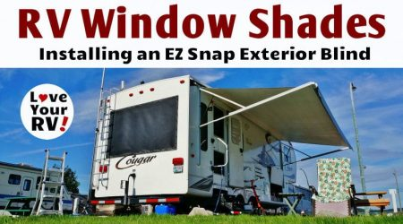 EZ Snap Exterior RV Window Shade Installation