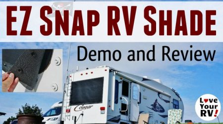 EZ Snap Exterior RV Window Shade Review and Demo