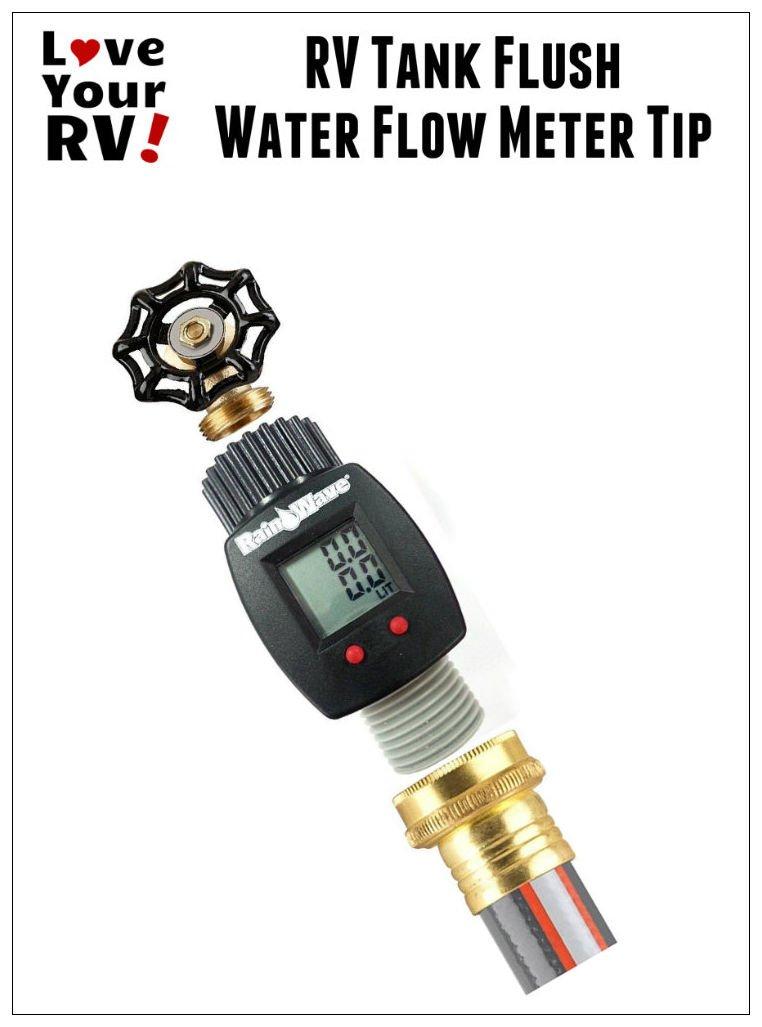 Rv Tank Flushing Tip Use A Water Flow Meter