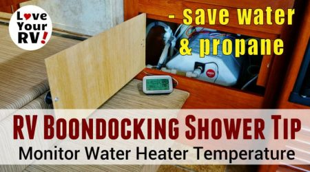 RV Water Heater Temperature Monitor Tip for Dry Camping