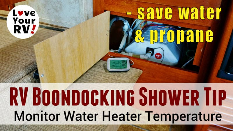 Boondocking Tip Water Heater Thermometer Feature Photo