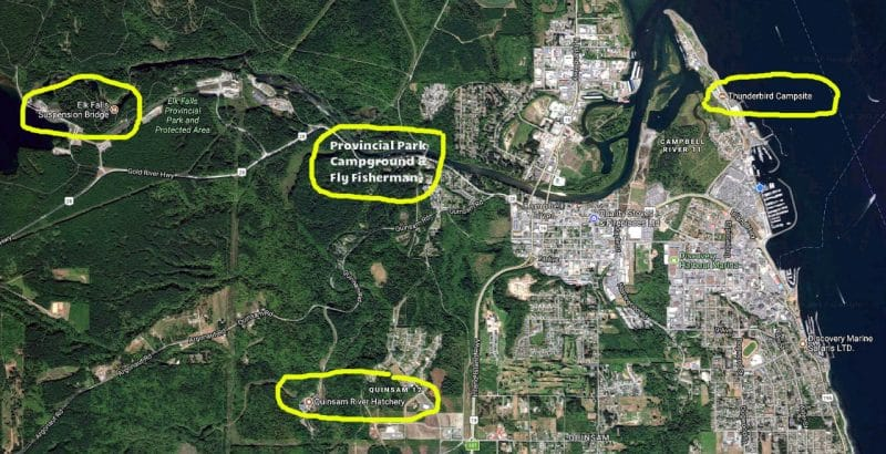 Campbell River Google Sat Map