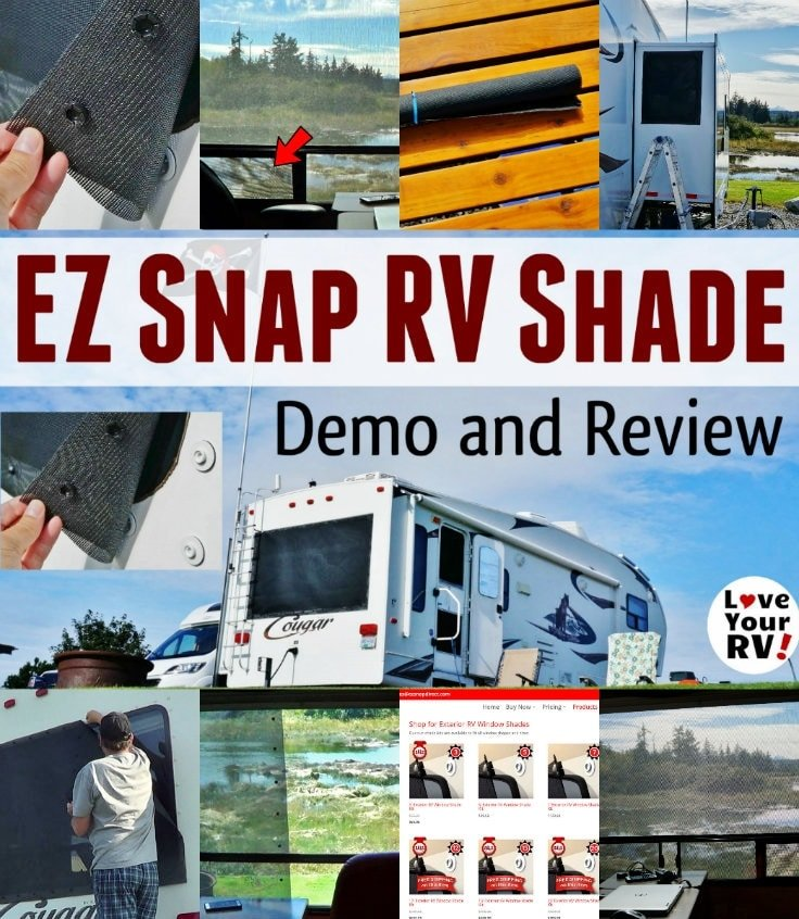 EZ Snap Exterior RV Window Shades RV Product Review by the Love Your RV blog - https://www.loveyourrv.com