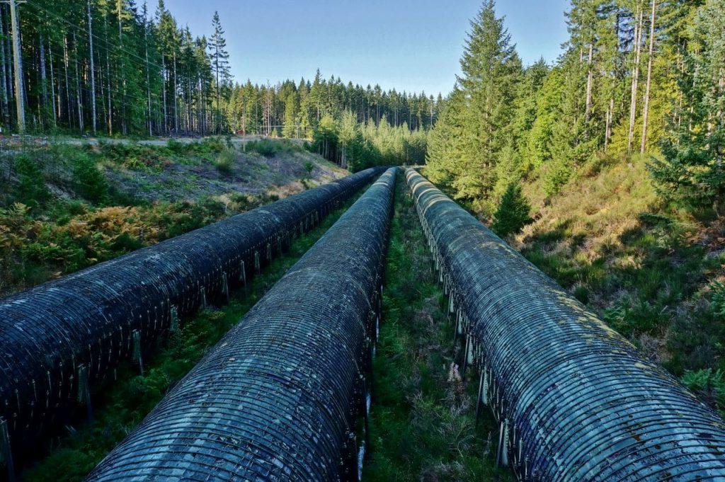 John Hart Dam wooden penstocks
