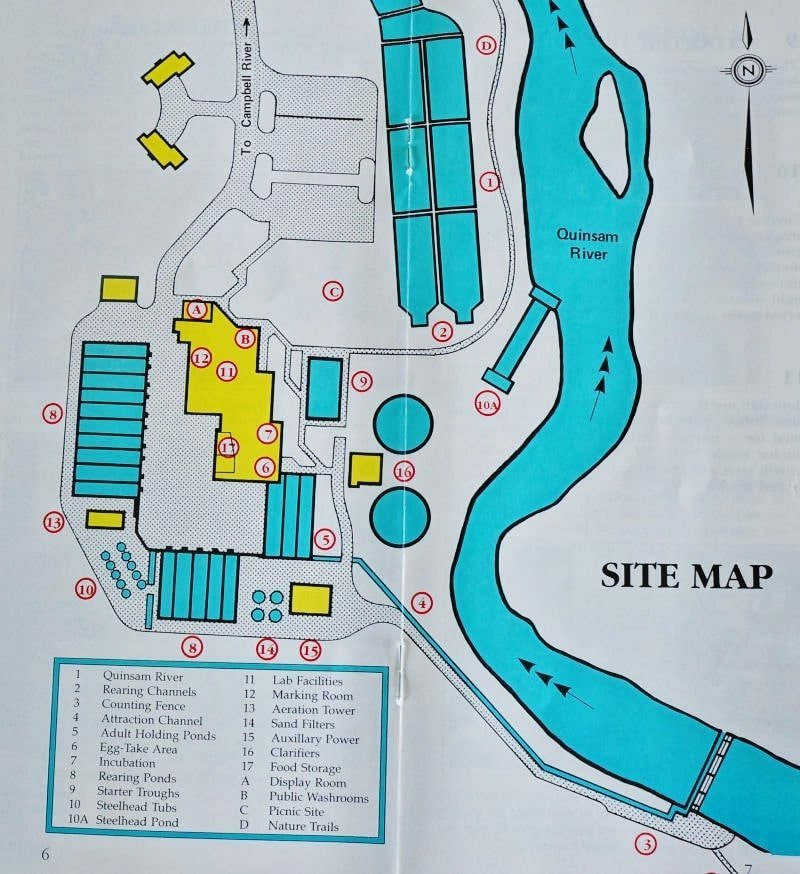 Quinsam River Hatchery Map