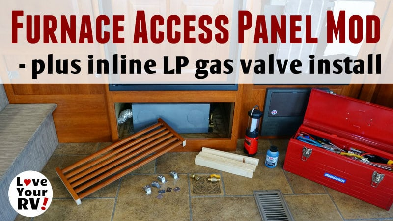 RV Furnace Access Panel Mod Feature Photo